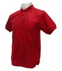 เสื้อยืด Polo สีแดง