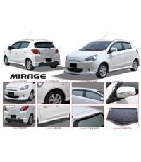 ชุดแต่งรอบคัน Mitsubishi MIRAGE V.2 มีคิ้วล้อ