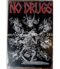Plate vintage 43 NO DRUGS