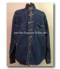 Vintage Levi\'s Denim Shirt  Size M DARK BLUE