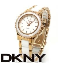 นาฬิกา DKNY NY8821 Brooklyn Two Tone Ceramic with white dial