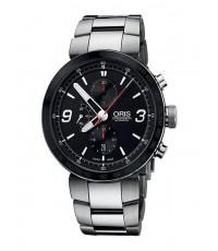 Oris นาฬิกาข้อมือผู้ชาย สายสเเตนเลส รุ่น 67476594174MB - Silver/Black