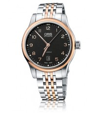 Oris Classic Date นาฬิกาข้อมือผู้ชาย สีโรสโกล์ด สายสเตนเลสสตีล รุ่น 73375944394MB
