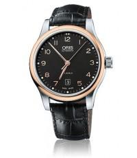 Oris Classic Date นาฬิกาข้อมือผู้ชาย สีดำ สายหนัง รุ่น 73375944394LS
