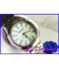 นาฬิกา CONAVIN หน้าปัด Silver เรือนใหญ่สวยมาก