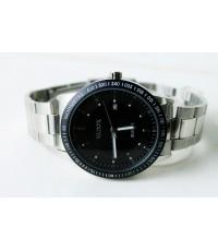 นาฬิกา Vadox มีวันที่ หน้าปัดดำ กันน้ำล้างมือ หรือละอองฝน เรือนใหญ่ ๆสวยมาก