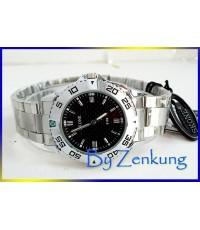 นาฬิกา SKONE หน้าปัดดำ กรอบนูน สวยมาก
