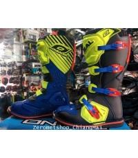 รองเท้าวิบาก Oneal Rider 2016 สี น้ำเงิน/เขียวนีออน