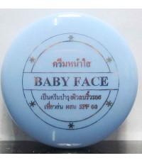 ครีมหน้าใสผสมกันแดดSPF50.BABY FACE