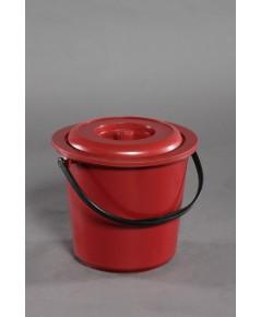 ถังน้ำ+ฝา 4.5 gl 13 Lt สีแดง B vcp