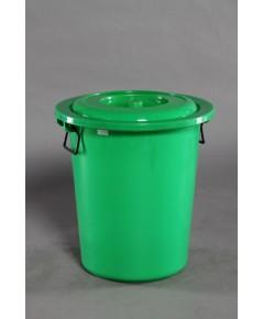 ถังน้ำ+ฝา 12 gl สีเขียว A vcp
