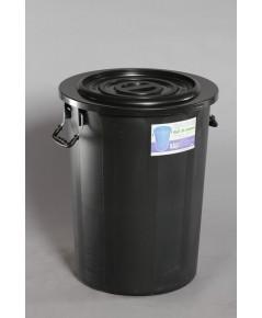 ถังน้ำ+ฝา 26 gl 104 Lt สีดำ M