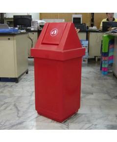 ถังขยะ TC-60 DL ฝาแกว่ง สีแดง