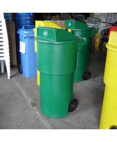 ถังขยะมีล้อ TC-150 RD สีเขียว