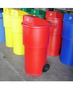 ถังขยะมีล้อ TC-150 RD สีแดง