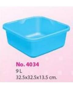 กะละมังเหลี่ยม No.4034 สีฟ้า