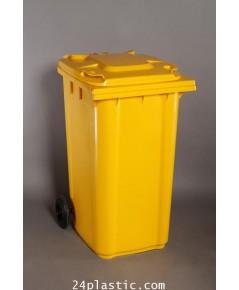 ถังขยะ 240 ลิตร ฝาเรียบ มีล้อ (เหลือง แดง น้ำเงิน เขียว)