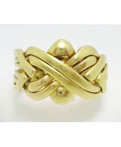 แหวน กล ลายตะกร้อสาน ทอง18K งานเก่า หลุดจำนำ นน. 14.75 g