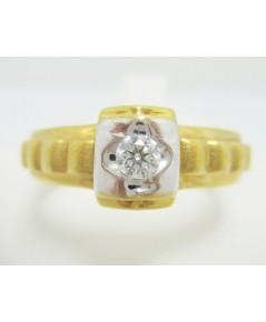 แหวน เพชรเดี่ยว 0.12 กะรัต ทอง 90 งานดีไซน์สวย นน. 6.14 g