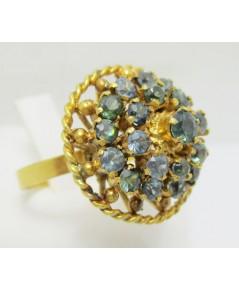 แหวน ไพลิน กระจุก ทรงพุ่ม ทอง90แบบงานโบราณ นน. 8.48 g