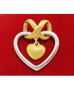 จี้ หัวใจ PrimaGold ทอง24K + ทอง 14K งานสวย น่ารักมาก นน. 2.90 g
