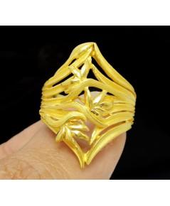 แหวน PRIMA GOLD ทอง24K ฉลุลาย ดอกหญ้า งานสวยมาก นน. 13.18 g