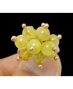 แหวน ไหมทอง ทรงพุ่ม Pinkgold ทอง9K งานสวย น่ารักมาก นน. 4.26 g