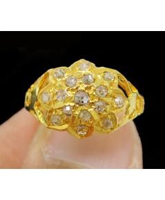 แหวน เพชรซีก บัวคว่ำ ทอง90 งานเก่า หลุดจำนำ สวยมาก นน. 2.91 g