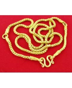 สร้อยคอ ทอง100 ลายเกล็ดมังกร 3 ห่วง ทองเก่า งานโบราณ สวยมาก นน. 45.59 g