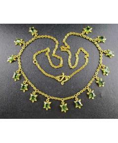 สร้อยคอ เขียวส่อง เจียร รูปเต่า ระย้า ตุ้งติ้ง ทอง96.5 งานสวยมาก นน. 14.97 g