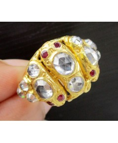 แหวน งู 3 หัว บุษน้ำเพชร ตาทับทิม ทอง90 งานเก่า หลุดจำนำ สวยมาก นน. 11.38 g