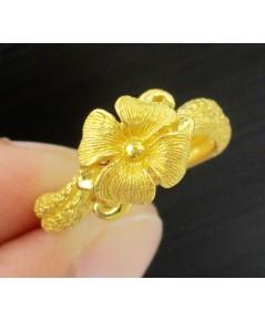 แหวน PRIMA GOLD ทอง24K ลายดอกไม้ งานสวย น่ารักมาก นน. 5.49 g