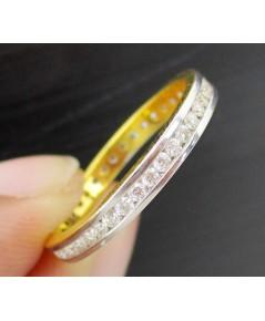 แหวน เพชรรอบ 45 เม็ด 0.55กะรัต ทอง90 เพชรสวย เล่นไฟ วิ้ง วิ้ง นน. 2.55 g