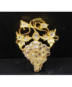จี้ เพชรซีก ฉลุลาย พวงองุ่น ทอง90 แบบงานโบราณ สวยมาก นน. 4.50 g