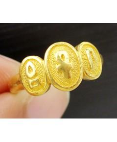 แหวน PRIMA GOLD ทอง24K ลายอักษร โรมัน งานสวยมาก นน. 4.46 g