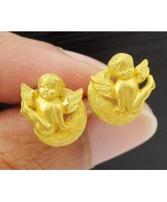 ต่างหู Prima Gold ทอง24K รูปกามเทพ งานสวย น่ารักมาก นน. 4.91 g