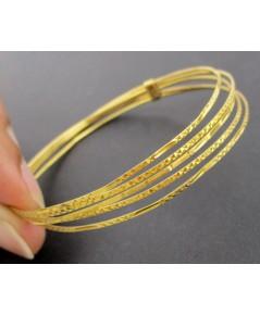 กำไล ทอง90 ตัดลาย 5 วง งานเก่า หลุดจำนำ สวยมาก นน. 8.44 g