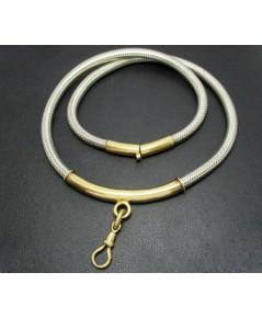 สร้อยคอ เงิน925 ลายกระดูกงู หน้าสร้อย + สปริง ก้ามปู ทอง90 งานเก่า หลุดจำนำ สวยมาก นน. 89.40 g