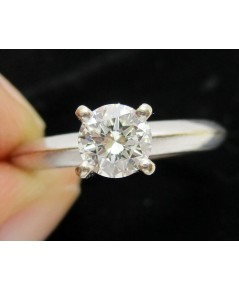 แหวน เพชรเดี่ยวชู 1 เม็ด 0.50 กะรัต ทอง18Kขาว เพชรขาว สวยมาก นน. 3.70 g