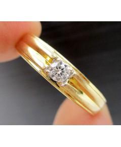 แหวน เพชรเดี่ยว 1 เม็ด 0.12 กะรัต ทอง18K หลุดจำนำ งานสวยมาก นน. 3.68 g