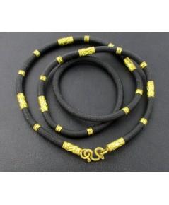 สร้อยคอ เชือกร่ม คั่นทอง ทอง96.5 งานเก่า หลุดจำนำ สวยมาก นน. 15.76 g