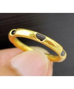 แหวน หางช้าง ทอง90 งานเก่า หลุดจำนำ หายาก Size 55 นน. 2.00 g