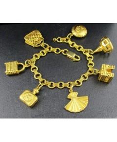 สร้อยข้อมือ กระเป๋า พัด ตุ้งติ้ง ทอง18K งานเก่า หลุดจำนำ สวยมาก นน. 35.10 g