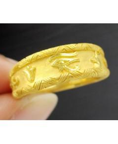 แหวน Prima Gold ทอง24K ลายอักษรโรมัน งานสวยมาก นน. 7.94 g