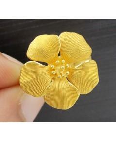แหวน Prima Gold ทอง24K รูปดอกไม้ งานสวย น่ารักมาก นน. 6.80 g