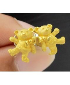 ต่างหู Gold Master ทอง24K รูป Teddy Bear งานสวย น่ารักมาก นน. 3.20 g
