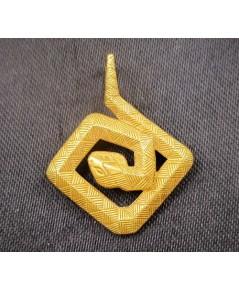 จี้ Prima Gold ทอง24K รูปงูหางกระดิ่ง ตัดลาย งานสวยมาก นน. 3.79 g