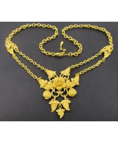 สร้อยคอ Prima Gold ทอง24K ลายช่อดอกไม้ ระย้า ตุ้งติ้ง งานสวยมาก นน. 41.64 g