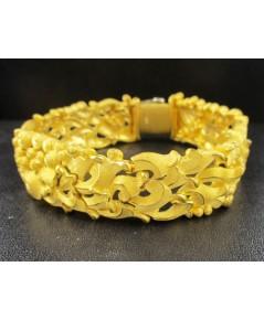 สร้อยข้อมือ Prima Gold ทอง24K ฉลุลายคลื่น ฟองน้ำ รอบเส้น งานสวยมาก นน. 70.83 g