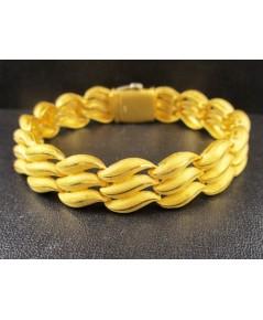 สร้อยข้อมือ Prima Gold ทอง24K ลายเมล็ดข้าว 3 แถว รอบเส้น งานสวยมาก นน. 47.78 g